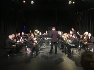 Regent Community Brass prepare to play